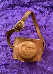 Vintage Mycro III A miniature camera in original Brown Leather Case