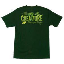 Creature Burlesque Buffet Skateboard T Shirt Forest Green Medium
