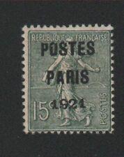 🎁🎁🎁🎁 Timbre France prèoblitéré N° 28, 15 c Semeuse gomme charnière 🎁🎁🎁🎁