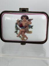Cherub Angel with Garland Trinket Jewelry Storage Ring Box