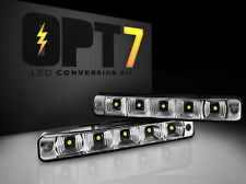 OPT7 Show Glow Bright LED DRL Daytime Running Lights WHITE Universal Side Mount