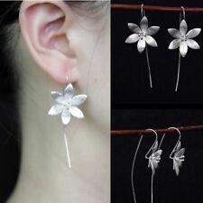 Charm 925 Silver Plated Long Drop Dangle Tassel Hook Earrings Ear Women Jewelry