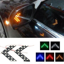 2x Yellow 14-SMD LED Arrow Panel for Car Side Mirror Turn Signal Indicator Light