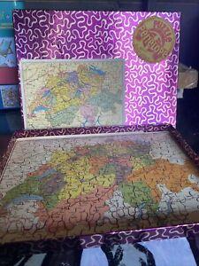 Vintage Wooden Puzzle Penelope Jigsaw Of Deutschland Excellent Condition