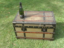 big VINTAGE TRUNK TRAVEL LUGGAGE COFFEE TABLE BLANKET BOX Storage TV STAND retro