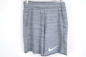 Nike Therma Dri-Fit Hangtime Shorts Men's Gray Black Size Medium