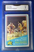 WALT FRAZIER certified GMA 7 signed autograph auto 1972-3 Topps NY Knicks #165