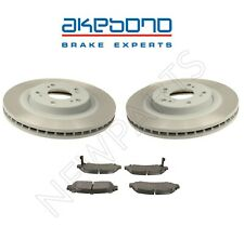 Front Left and Right Disc Brake Rotors & Pads For Acura TSX Honda Accord