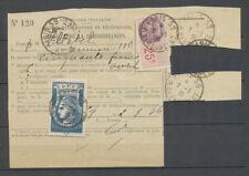 RADIODIFFUSION, BLEU, obl. Sur formule + 25c. Fiscal, 1936, sur devant X4059