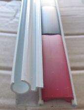 "96"" White Aluminum Insert Type Awning Gutter Drip Rail Trim Molding 1 5/16"" RV"