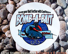 CATFISH -BOMB-A-BAIT FISHING COMPANY DECAL~ EXTRA LARGE 8 INCHES X 8 INCHES
