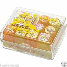 San-X Rilakkuma Mini Rubber Stamp Set 8 Designs Red Ink 02 From JAPAN AU