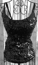 Fredericks of Hollywood Sequin Bling Corset Bustier Top Straps Padded Bra Small