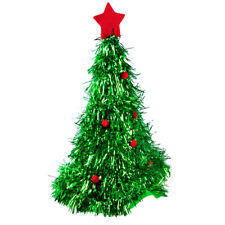 Fancy Unisex Christmas Xmas Tree Hat Cap Red Ornaments Costume Accessory Party