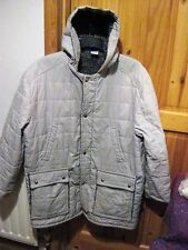 QUILTED SHOWERPROOF JACKET WITH THICK FLEECE LINING.SIZE LARGE-SEE DESCRIPTION