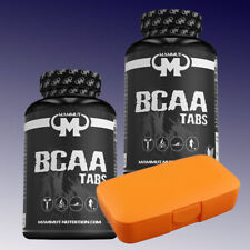 78,10€/kg) Mammut BCAA Tabs  2 x 180 Tabletten Aminosäuren + Pillenbox Orange