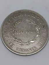 Genuine Danish DENMARK 2 Kroner Coin 1870 - 1945 Copenhagen Silver 31mm Money