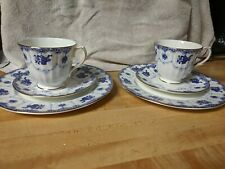Two Antique Duchess Tea Cup trio sets with Saucer and plate Pattern 426