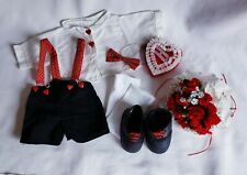 """Valentine's Day Boy Outfit Costume for 12"""" Bear or Doll Tender Heart Treasures"""