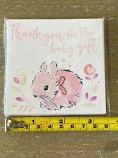 Wholesale set of 4 Thank you for the baby gift cards pink - 5 cards per pack