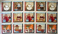 COFFEE HOUSE PANEL - 60cm x 112cm - Henry Glass Fabrics