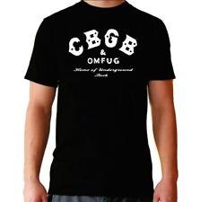 Camiseta hombre CBGB bar T shirt men hard rock punk heavy legend