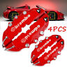 4PC 3D Red Car Universal Disc Brake Caliper Covers Front & Rear Accessories Kits