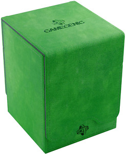 Squire 100+ Card Convertible Deck Box: Green GameGenic Asmodee NEW