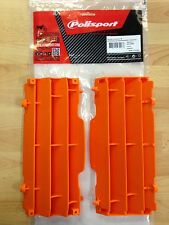 POLISPORT RADIATOR LOUVRES RAD GUARDS FITS  KTM EXC EXC-F 2008-2016  ORANGE