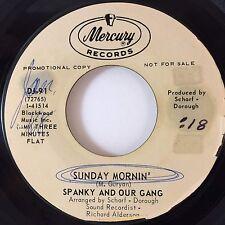 "PROMO!-SPANKY & OUR GANG: SUNDAY MORNIN' (7"" 45RPM ORIGINAL 1968)VG++/EXCELLENT!"
