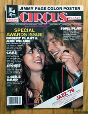 CIRCUS Magazine 1979 Zeppelin / Heart Cover Jimmy Page Poster AC/DC Rare Ad Cars
