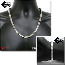 """24""""MEN Stainless Steel 8mm Silver Miami Cuban Curb Chain Necklace Bracelet*S155"""