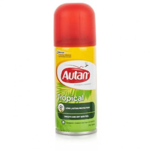 Autan 100ml Tropical Mosquito Repellent Dry Body Spray