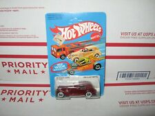 HOT WHEELS VINTAGE '35 CLASSIC CADDY #3252 MAROON & BROWN INT LIGHT BLUE CARD