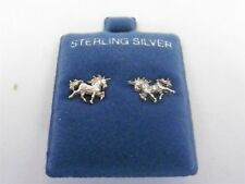 Danecraft Sterling Silver 925 Unicorn Horse Earrings Pierced Sterling not plated