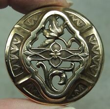 ANTIQUE BRASS OPENWORK BUTTON     METAL