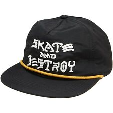 THRASHER SKATE & DESTROY PUFF INK SNAPBACK CAP BLACK