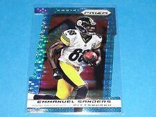 2013 Prizm EMMANUEL SANDERS #21 Light Blue Die Cut SP/15 Steelers-Broncos SMU