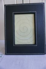 """Black Leather Look Photo Frame, 6"""" x 4"""""""