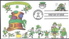 ST PATRICK'S DAY  LEPRECHAUNS   IRISH  LUCKY    FDC- DWc CACHET