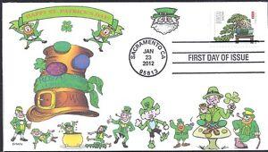 ST PATRICK'S DAY   IRISH  LEPRECHAUNS   LUCKY    FDC- DWc CACHET