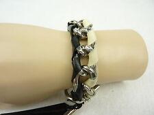 MIMCO Jewellery Punk Block Chain Wrist/ Bracelet BNWT- in Jet White- rrp$99.95