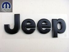 JEEP HOOD GRILL BLACK COLOR BADGE NAMEPLATE INSIGNIA EMBLEM OEM FACTORY