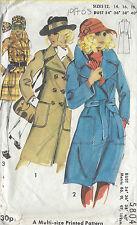 années 1970 VINTAGE COUTURE GABARIT b34-36-38-40 Manteau (r744)