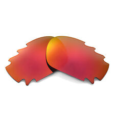 New Walleva Fire Red Vented Replacement Lenses For Oakley Jawbone Sunglasses