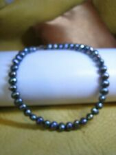 BEAUTIFUL NATURAL GREY PEARL PEACOCK TAHITIAN BRACELET SIZE 9