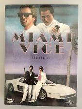 MIAMI VICE STAGIONE 4 COFANETTO DVD NUOVO SIGILLATO FUORI CATALOGO ORIGINALE ITA