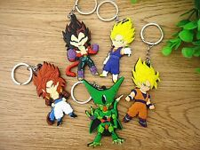 5Pcs Dragon Ball Z Cell Son Goku Vegeta Super Saiyan PVC keychain keyring Set
