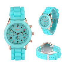 NEW Colorful Geneva Silicone Jelly Gel Quartz Analog Sport Wrist Watch Women