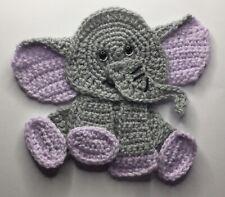Crochet Baby Elephant Applique